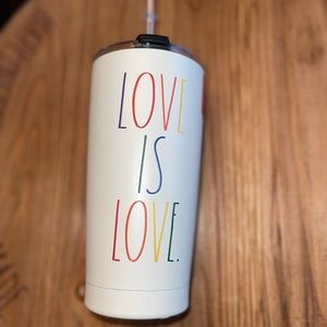 RAE DUNN     LOVE IS LOVE Insulated Tumbler